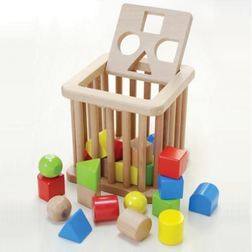 木のおもちゃ 積み木 つみきのバスケット