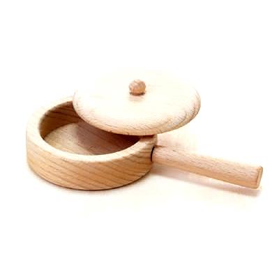 【おもちゃのジャンボ】 木のおもちゃ おままごと 調理器具 フライパン ミニキッチン 拡張パーツ 木製玩具 通販 販売