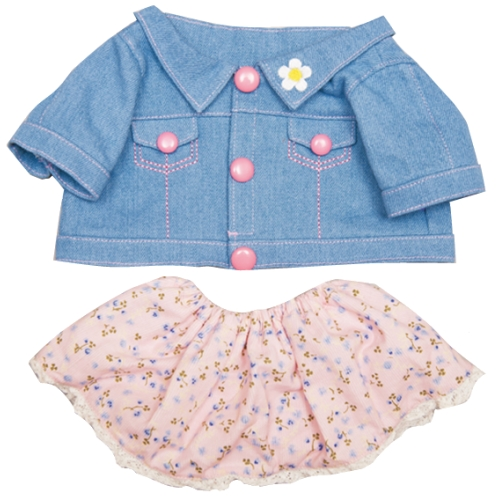 【おもちゃのジャンボ】 夢の子コレクション40 Gジャン&花柄コール天風スカート お洋服 ユメル ネルル ミルル 通販 販売