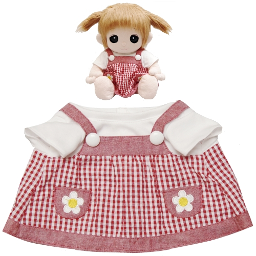 【おもちゃのジャンボ】 夢の子コレクション38 ギンガムジャンパースカート お洋服 ユメル ネルル ミルル 通販 販売