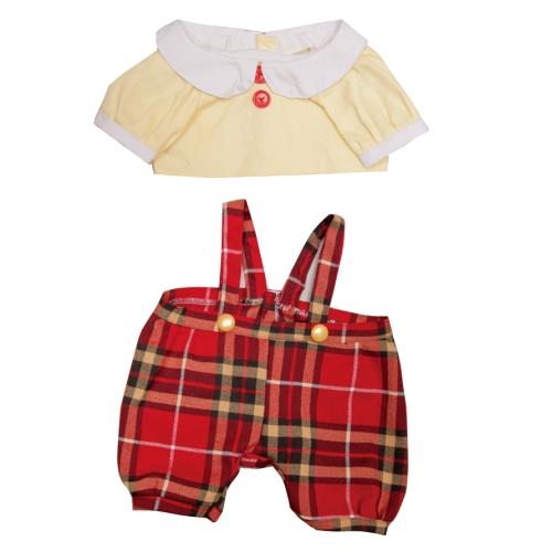 【おもちゃのジャンボ】 夢の子コレクション40 長袖ブラウス&チェック柄ズボン 男女兼用 お洋服 ユメル ネルル ミルル 通販 販売