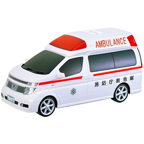 【おもちゃのジャンボ】 日産 エルグランド 救急車 (ライト・リアルサウンド・フリクション) 働く 車 おもちゃ 通販 販売
