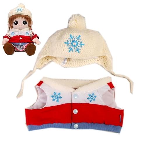 【おもちゃのジャンボ】ユメル ネルル 夢の子コレクション18 ニット帽&ダウンベスト (男女兼用) 【おしゃべり人形お洋服】 通販 販売