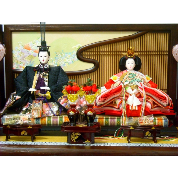 雛人形 ひな人形 お雛様 雛 平飾り 2人 親王飾り こころ雛