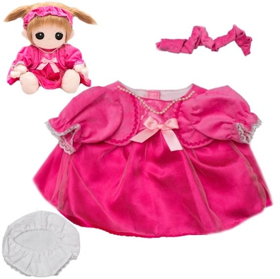【おもちゃのジャンボ】 ユメル ネルル ミルル 夢の子コレクション44 ピンクドレス(リボン、パンツ付き)通販 販売