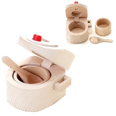 【おもちゃのジャンボ】 木のおもちゃ おままごと 調理器具 炊飯器 ミニキッチン 拡張パーツ 木製玩具 通販 販売