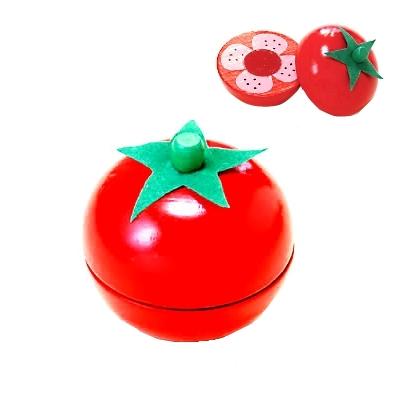 【おもちゃのジャンボ】 木のおもちゃ おままごと 食材 トマト ミニキッチン 拡張パーツ 木製玩具 通販 販売
