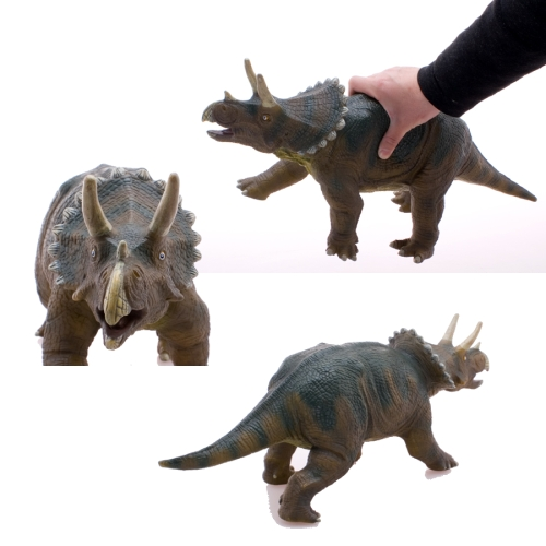 恐竜フィギュア トリケラトプス ビニールモデル プレミアムエディション