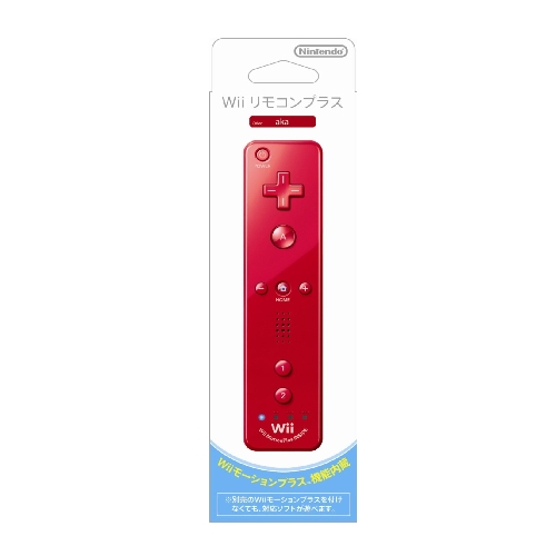 ニンテンドー Wii リモコンプラス アカ (Wiiリモコンジャケット付き)