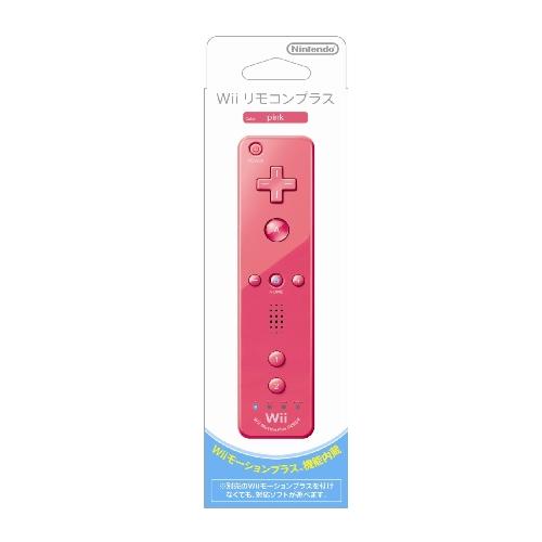 ニンテンドー Wii リモコンプラス ピンク (Wiiリモコンジャケット付き)