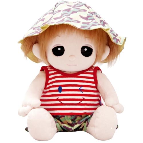 【おもちゃのジャンボ】 夢の子コレクション39 ボーダータンクトップ&迷彩柄ズボン 帽子付き お洋服 ユメル ネルル ミルル 通販 販売