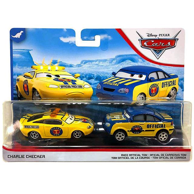 カーズ 2019 マテル 1/55スケール ダイキャスト ミニカー 2パック チャーリー・チェッカー & レースオフィシャル・トム (ダイナコ 400)