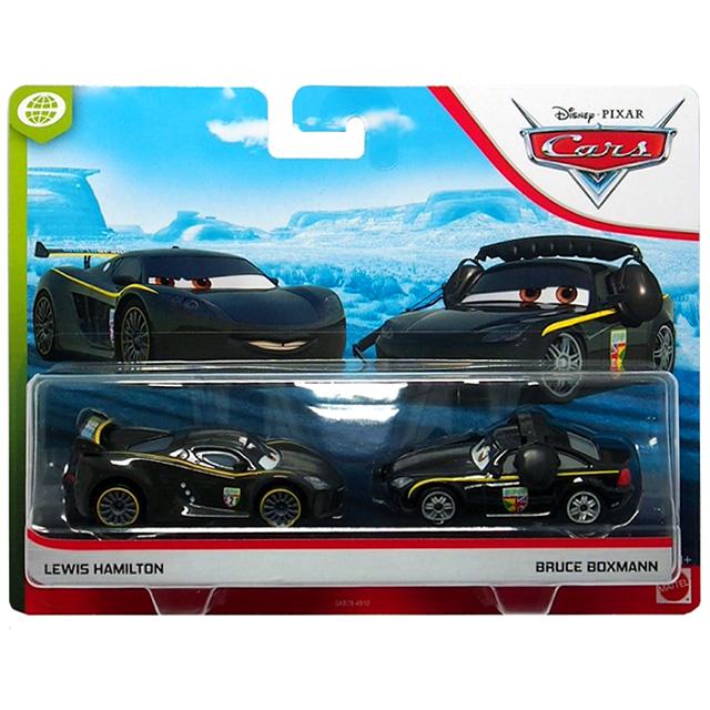 カーズ 2020 マテル 1/55スケール ダイキャスト ミニカー 2パック ルイス・ハミルトン & ブルース・ボックスマン (ワールドグランプリ)