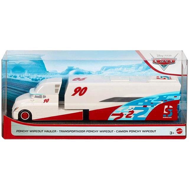 カーズ 2020 マテル 1/55スケール ダイキャスト ミニカー レーストラック ポンチー・ワイプアウト's バンパーセーブ No.90 ハウラー