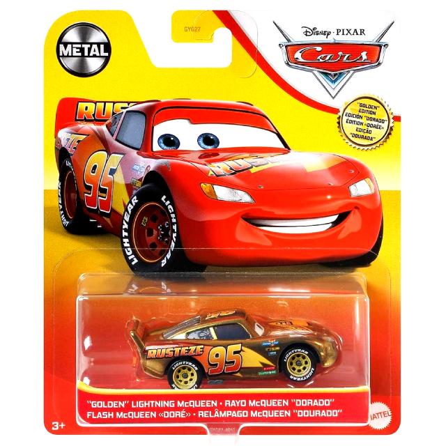 ディズニー ピクサー カーズ 2021 マテル 1/55スケール ダイキャスト ミニカー 1パック ゴールデン・エディション ライトニング・マックイーン