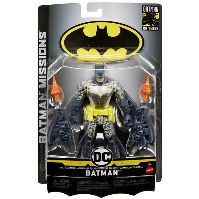 マテル バットマン ナイトミッションズ 6インチ アクションフィギュア アークティック・アーマー バットマン