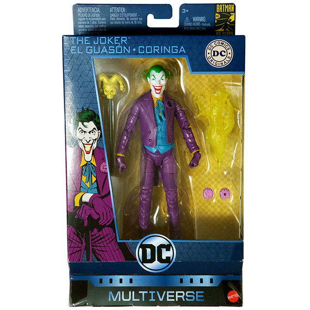 マテル DCコミックス マルチバース 6インチ アクションフィギュア バットマン 80周年記念シリーズ ジョーカー (トイビズ トリビュート)