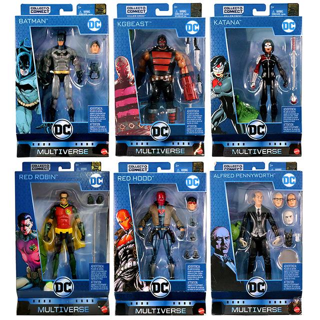 マテル DCコミックス マルチバース 6インチ アクションフィギュア キラークロックシリーズ 6体セット (ディック・グレイソン バットマン & KG ビースト & カタナ & レッドロビン & レッドフード & アルフレッド)