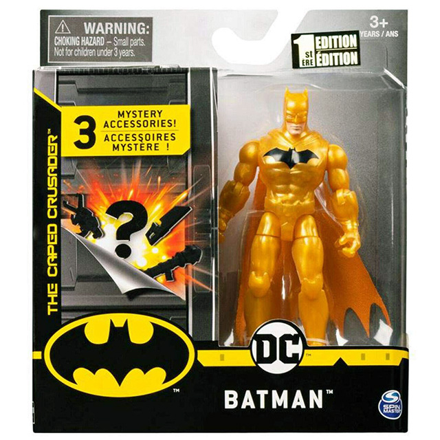 スピンマスター DCコミックス クリーチャーカオス 4インチ アクションフィギュア ミステリー・アクセサリーパック バットマン (ゴールドスーツ)