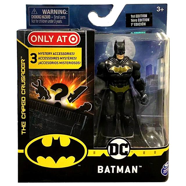 スピンマスター DCコミックス クリーチャーカオス ターゲット限定 4インチ アクションフィギュア ミステリー・アクセサリーパック バットマン (ブラックスーツ)