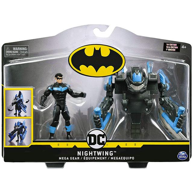 スピンマスター DCコミックス クリーチャーカオス 4インチ デラックス アクションフィギュア トランスフォーミング・アーマーパック メガ・ギア ナイトウィング