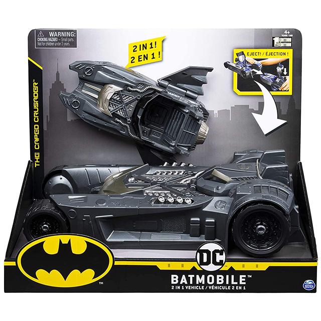 スピンマスター DCコミックス クリーチャーカオス 4インチ デラックス 2in1 トランスフォーミング ビークル バットモービル