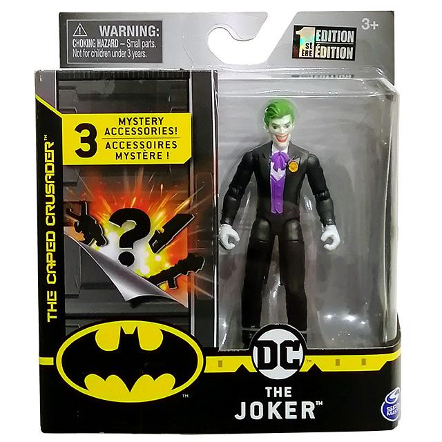 スピンマスター DCコミックス クリーチャーカオス 4インチ アクションフィギュア ミステリー・アクセサリーパック ジョーカー (ブラックスーツ)