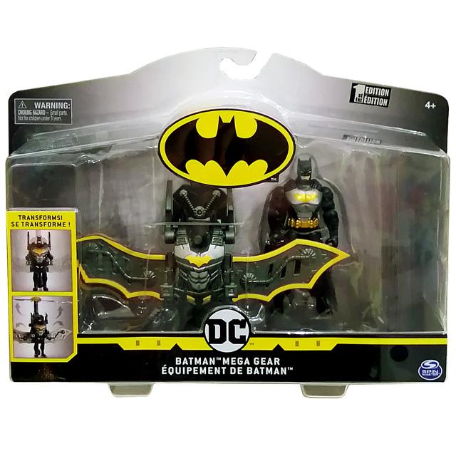 スピンマスター DCコミックス クリーチャーカオス 4インチ デラックス アクションフィギュア トランスフォーミング・アーマーパック メガ・ギア アーマード バットマン