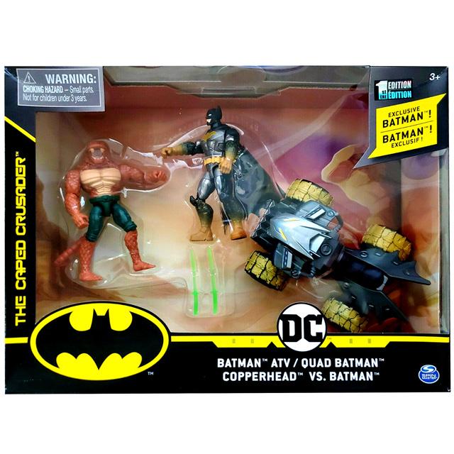 スピンマスター DCコミックス クリーチャーカオス 4インチ デラックス アクションフィギュア ビークルパック バットマン vs カッパーヘッド with バットATV