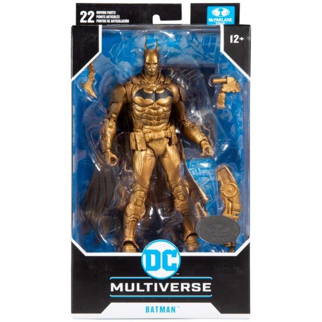 マクファーレントイズ DC マルチバース 7インチ アクションフィギュア プラチナ・エディション 『バットマン:アーカム・ナイト』 バットマン (ゴールドカラー バリアント)