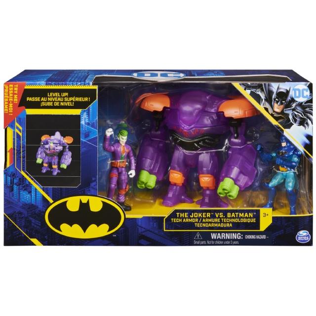 スピンマスター DCコミックス クリーチャーカオス 4インチ デラックス アクションフィギュア アーマーパック テック・アーマー ジョーカー VS バットマン