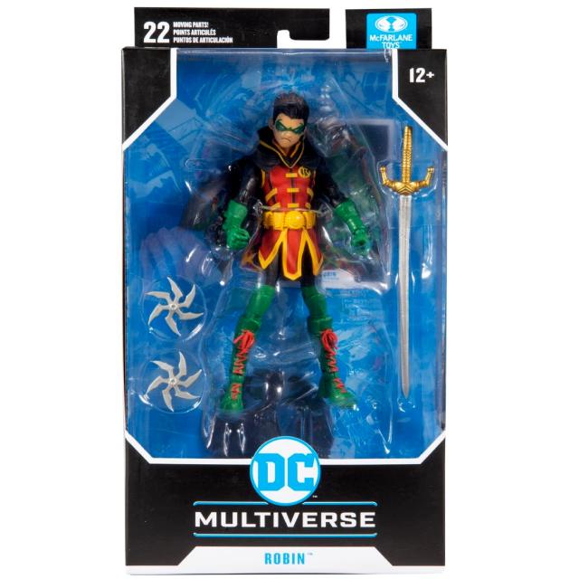 マクファーレントイズ DC マルチバース 7インチ アクションフィギュア 『ティーン・タイタンズ:リバース』 ロビン (ダミアン・ウェイン)