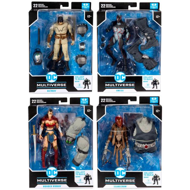 マクファーレントイズ DC マルチバース 7インチ アクションフィギュア ベインシリーズ 4体セット (バットマン & オメガ & ワンダーウーマン & スケアクロウ)