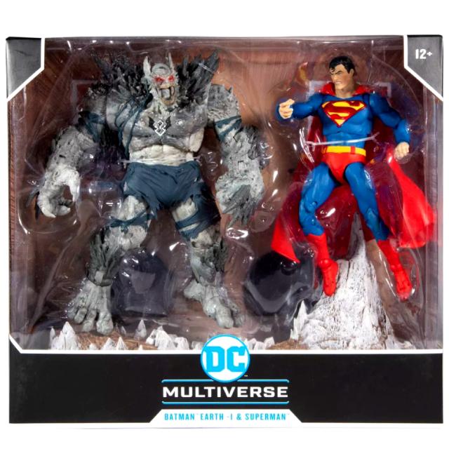 """マクファーレントイズ DC マルチバース 7インチ アクションフィギュア 2パック 『ダークナイツ:メタル』 アース1 バットマン """"デバステーター"""" & スーパーマン"""