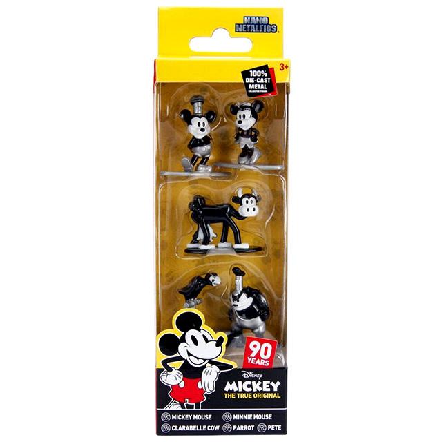 ディズニー ミッキーマウス 90周年記念 トゥルー・オリジナル ジェイダトイズ ナノ メタルフィグス ダイキャスト ミニフィギュア 5パック