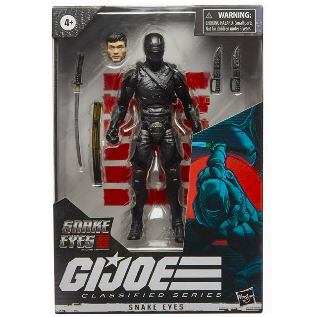 ハズブロ G.I.ジョー:漆黒のスネークアイズ クラシファイドシリーズ 6インチ アクションフィギュア スネークアイズ