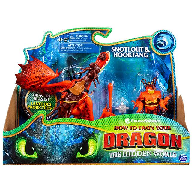 ヒックとドラゴン3 / 聖地への冒険 スピンマスター ドラゴンライダー フィギュアセット フックファング & スノット