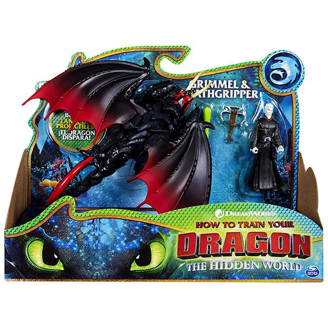 ヒックとドラゴン3 / 聖地への冒険 スピンマスター ドラゴンライダー フィギュアセット デスグリッパー & グリメル