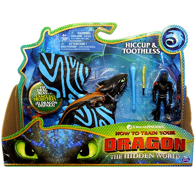ヒックとドラゴン3 / 聖地への冒険 スピンマスター ドラゴンライダー フィギュアセット トゥース (ブルーパターン) & ヒック