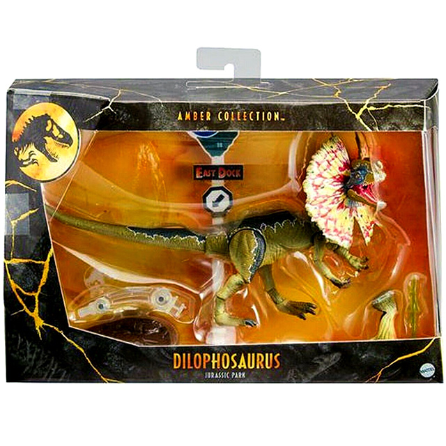 ジュラシック・パーク マテル アンバーコレクション 6インチ アクションフィギュア ディロフォサウルス