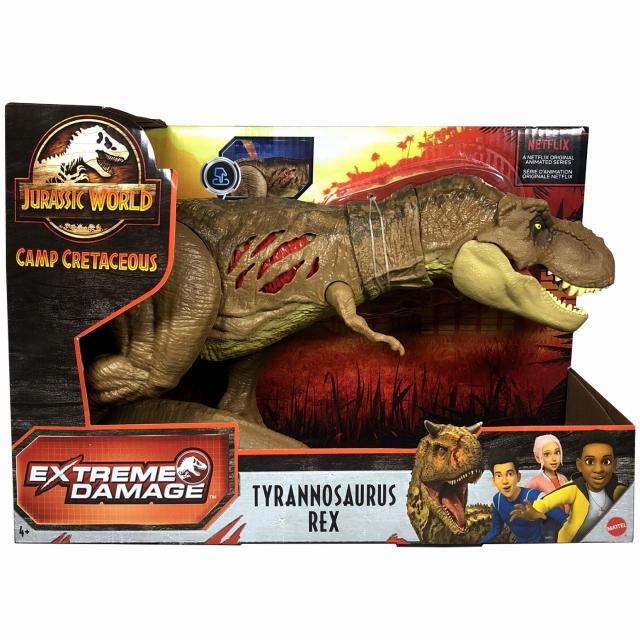 ジュラシック・ワールド / サバイバル・キャンプ マテル エクストリーム・ダメージ アクションフィギュア ティラノサウルス・レックス