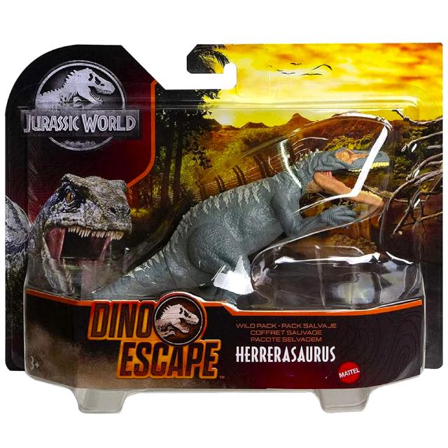 ジュラシック・ワールド マテル ダイノ・エスケープ ワイルドパック アクションフィギュア ヘレラサウルス