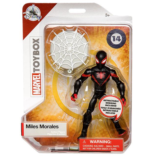 マーベルコミックス USディズニーストア限定 トイボックス アクションフィギュア マイルス・モラレス スパイダーマン
