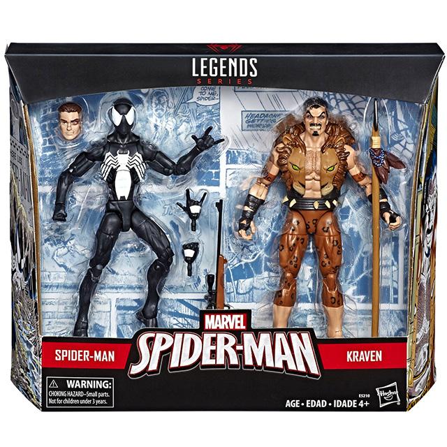ハズブロ マーベルレジェンド ターゲット限定 6インチ アクションフィギュア 2パック ブラックコスチューム スパイダーマン & クレイブン