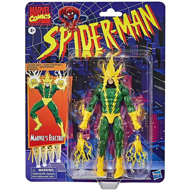 ハズブロ スパイダーマン マーベルレジェンド レトロパッケージ 6インチ アクションフィギュア エレクトロ