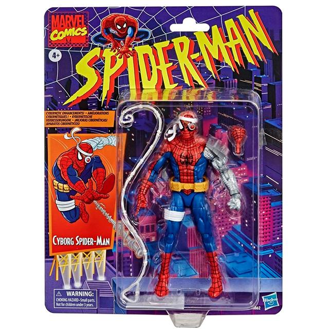 ハズブロ スパイダーマン マーベルレジェンド ターゲット限定 レトロパッケージ 6インチ アクションフィギュア サイボーグ スパイダーマン