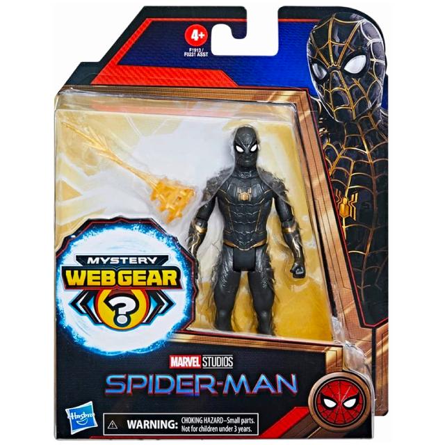 ハズブロ スパイダーマン / ノー・ウェイ・ホーム 6インチ ベーシックフィギュア ブラック&ゴールド スーツ・スパイダーマン