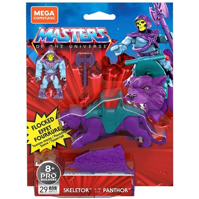 マスターズ・オブ・ザ・ユニバース メガコンストラックス ヒーローズ ブロックフィギュア デラックスパック スケルター & パンサー