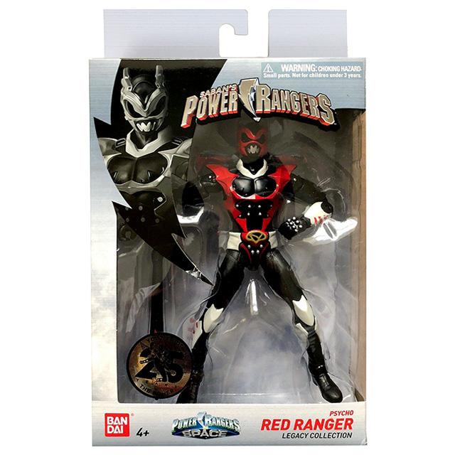 パワーレンジャー・インスペース レガシーコレクション 6インチ アクションフィギュア サイコレッドレンジャー