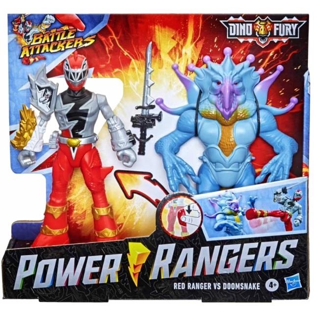 ハズブロ パワーレンジャー:ダイノフューリー バトル・アタッカーズ アタックフィギュア 2パック レッドレンジャー & ドゥームスネーク